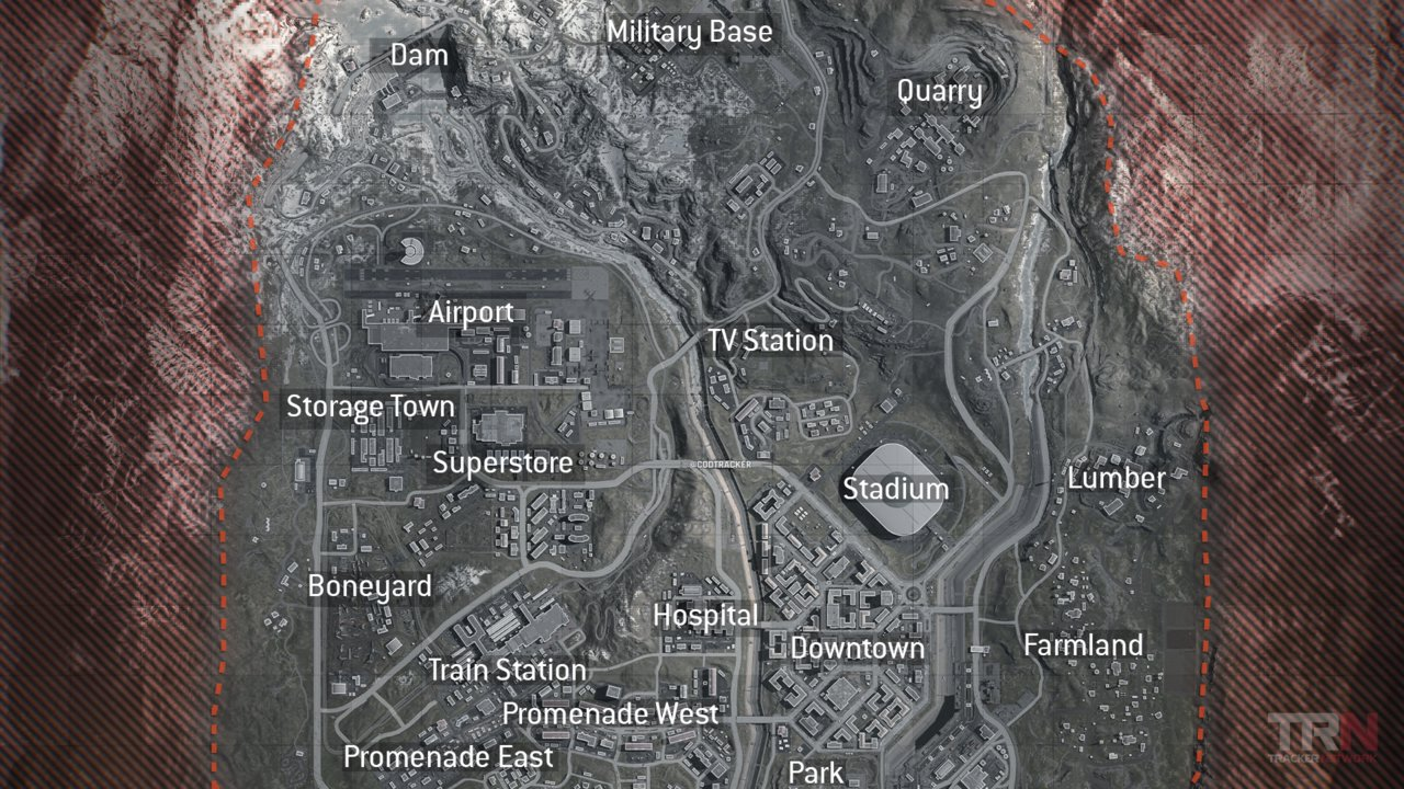 First Look At The Full Battle Royale Map In Call Of Duty Warzone