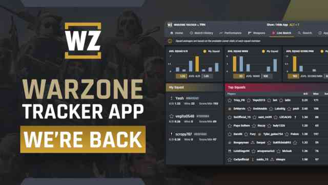 The Warzone Tracker Overwolf App Returns