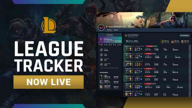 League of Legends Tracker is now available!