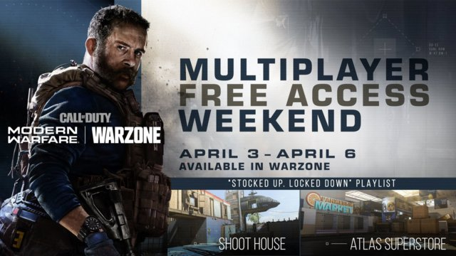 Call of Duty: Modern Warfare Free Multiplayer Access Weekend Begins April 3rd