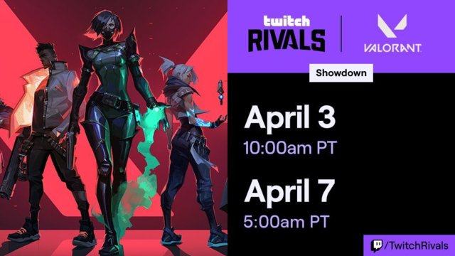 Twitch Rivals Valorant Showcase details