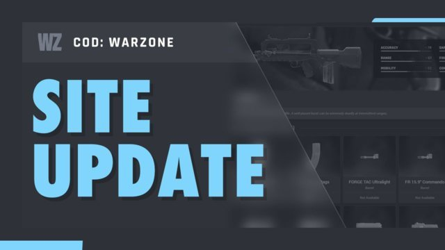 Database Update: Weapon Attachments Stats