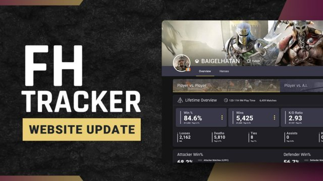 For Honor Tracker 2.0 is now available